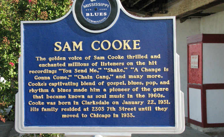 Sam Cooke Blues Trail Marker, Clarksdale, Mississippi