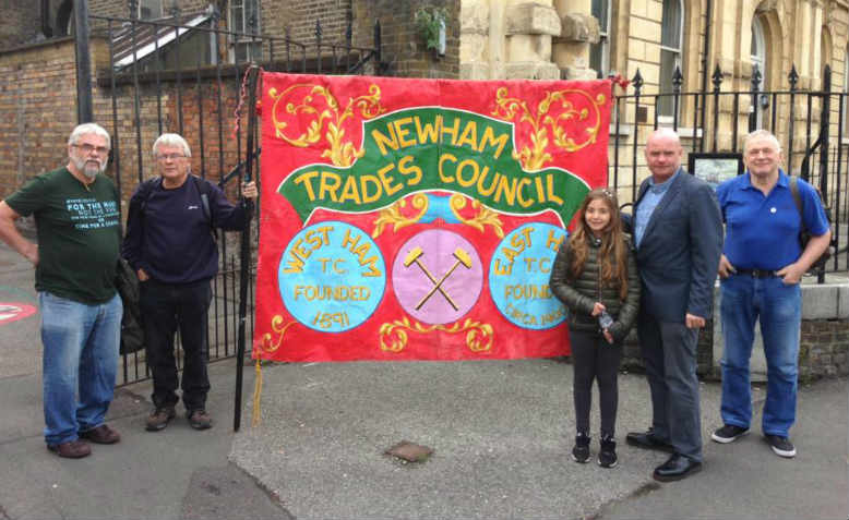 Newham Trade Council solidarising with the Barts strikers