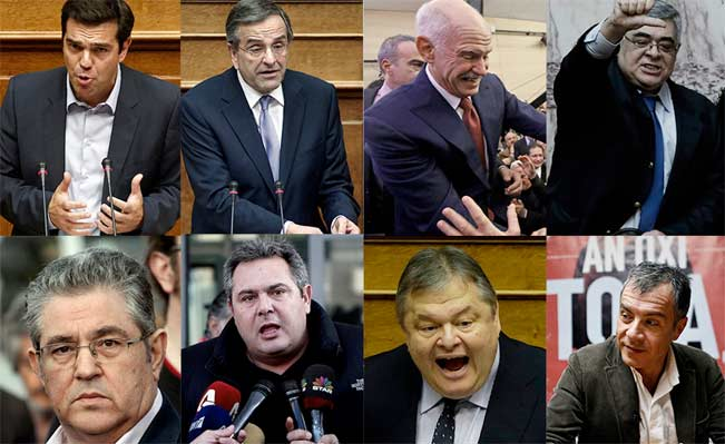 'Five days before the polls close and everybody is negotiating.' Greek party leaders