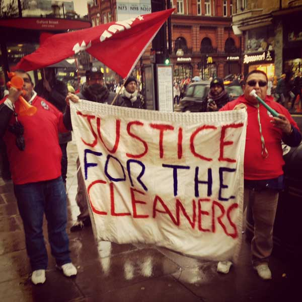 John Lewis protest by cleaners