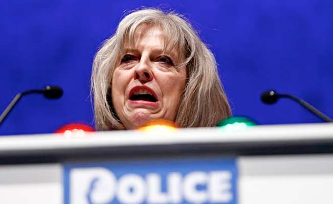 Home Secretary Theresa May. Photograph: Photo: Andrew Winning/Reuters