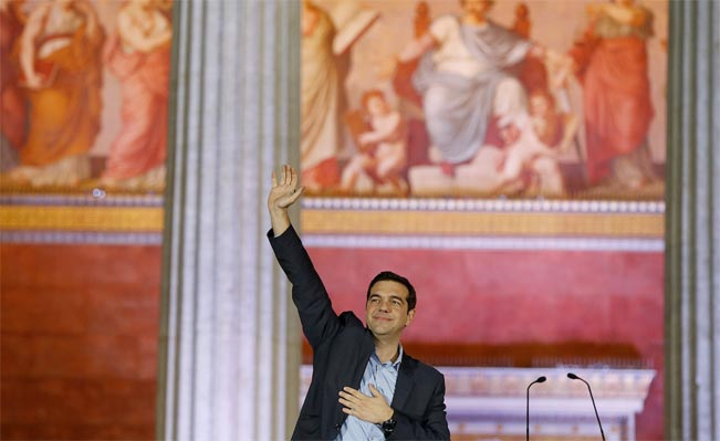 In the corridors of power: Syriza leader Alexis Tsipras