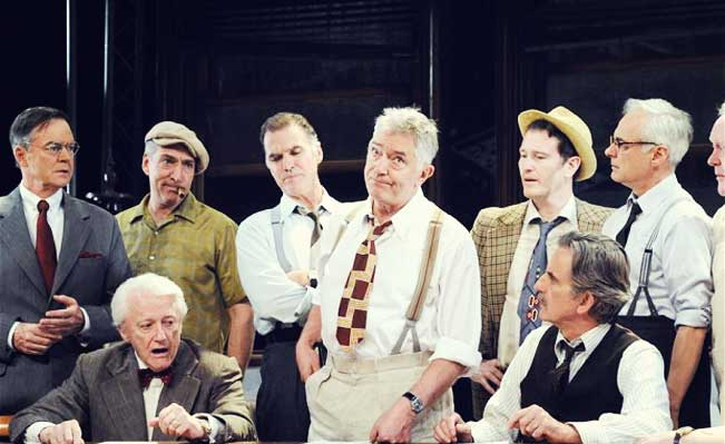 Twelve Angry Men at the Garrick Theatre. Photo: Alastair Muir