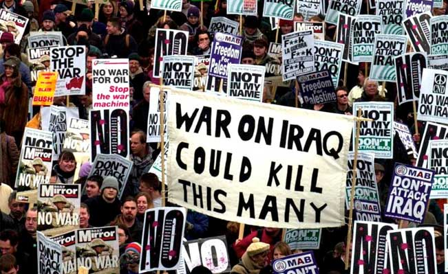 Demonstration against the Iraq war - London, 2003