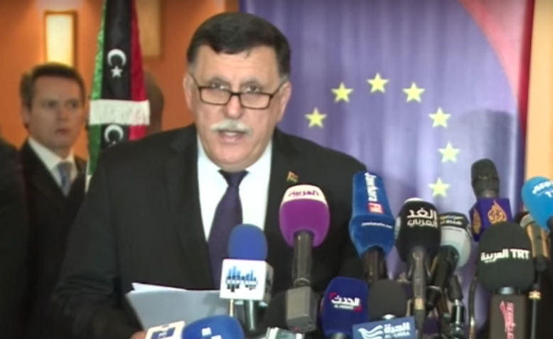 Fayez al-Sarraj meets the High Representative of the EU Federica Mogherini. Photo: YouTube