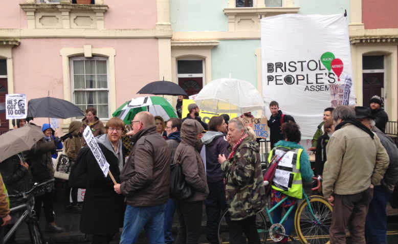 housing protest Bristol