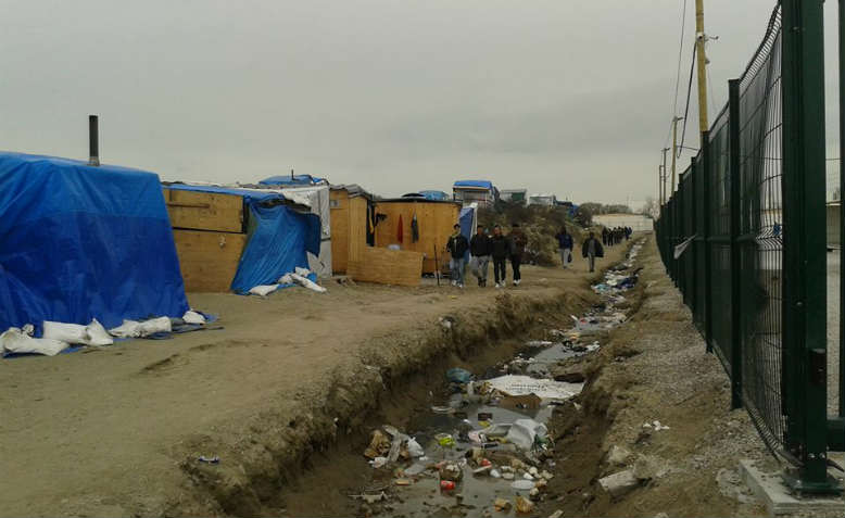 Refugee camp in Calais. Photo: Sheena Connor