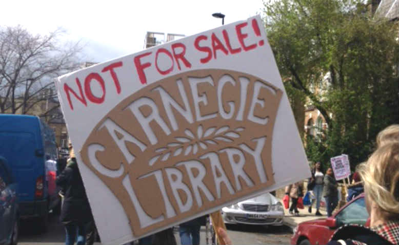 Carnegie Library placard