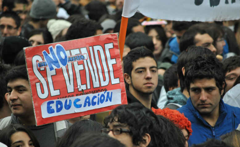 Student protests in Chile in 2011. Photo: Wikipedia