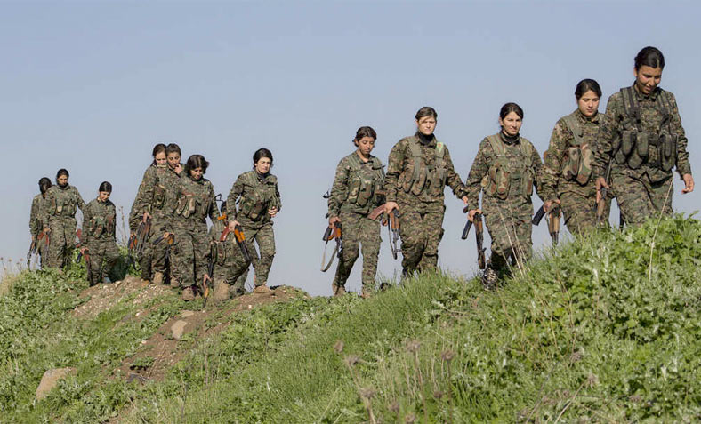 Kurdish YPG fighters in training. Photo: Flickr/ Kurdishstruggle