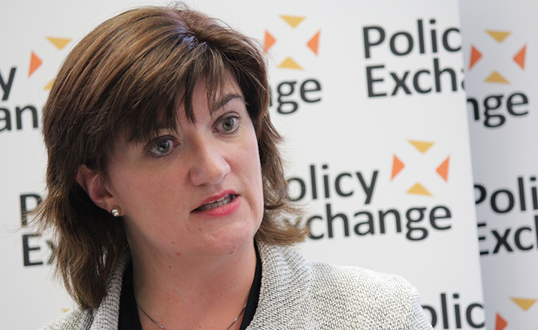 Nicky Morgan, Secretary of State for Education, delivering a speech at Policy Exchange. Photo: Flickr
