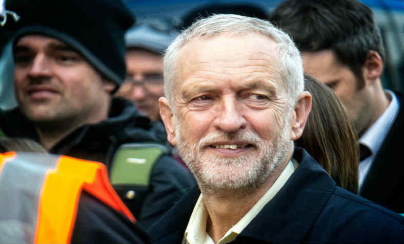 Jeremy Corbyn at a protest in support of the junior doctors' strike. Photo: Flickr / Garry Kinght