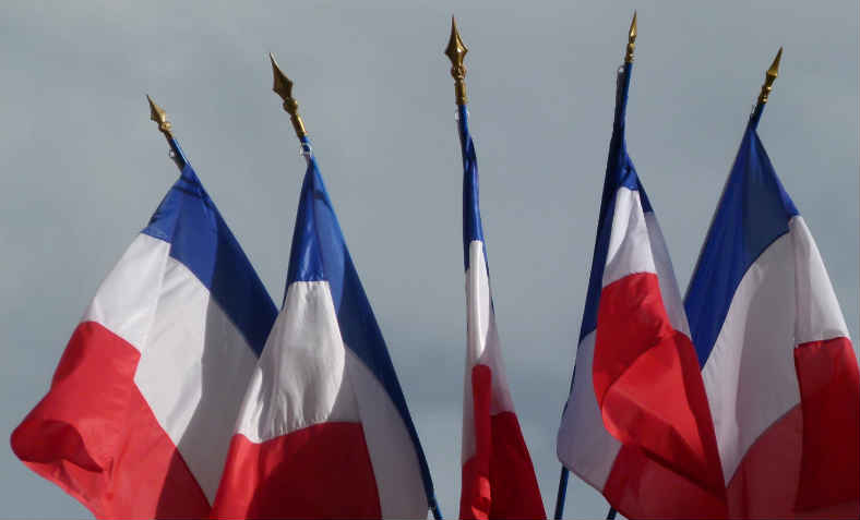 French flags; Fascism and the French election