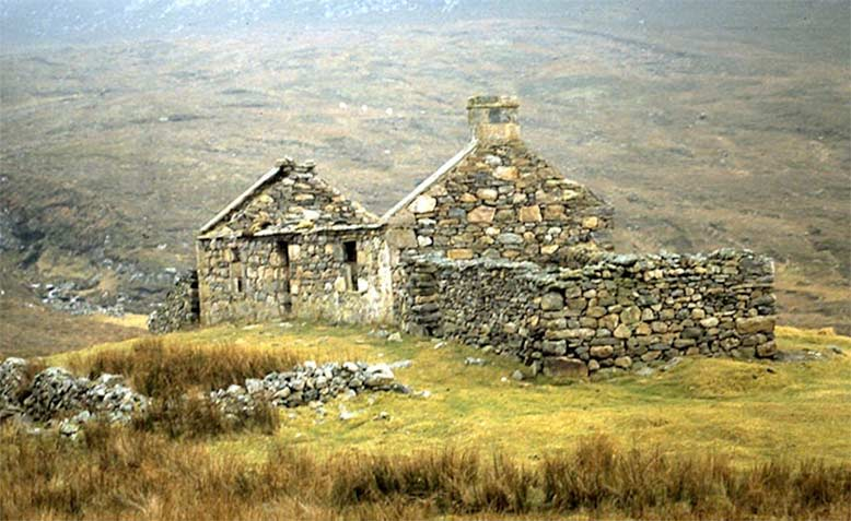 An abandoned township in the Highlands