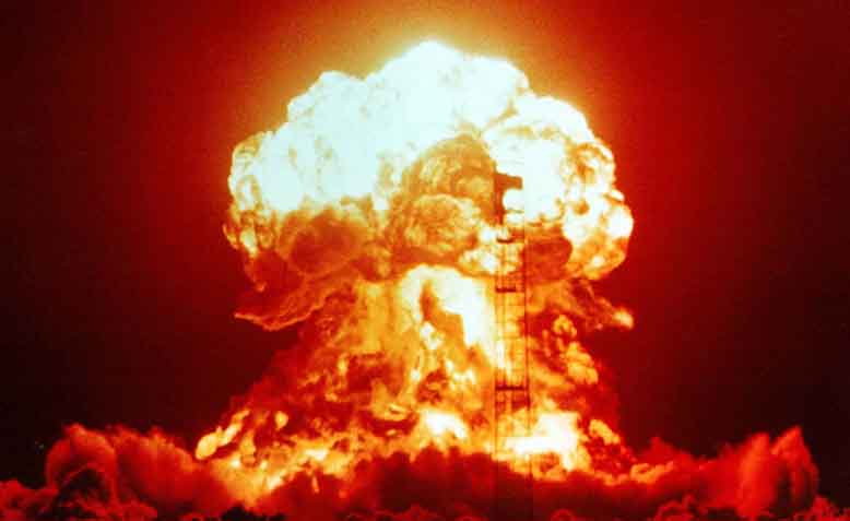 Nuclear explosion test in Nevada in 1953. Photo: Wikipedia