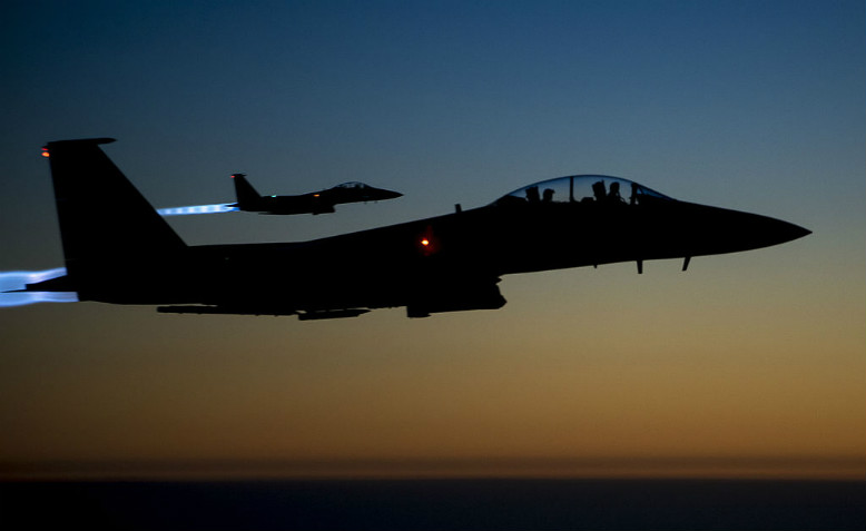 US-led coalition airstrikes in Syria, September 2014. Photo: Wikimedia Commons