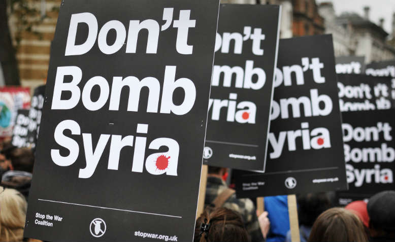 Don't Bomb Syria protest, London. Photo: Jim Aindow