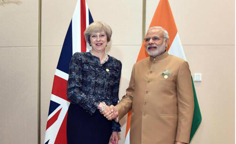 Theresa May and Narendra Modi at the G20 Summit, 2016. Photo: Wikimedia Commons