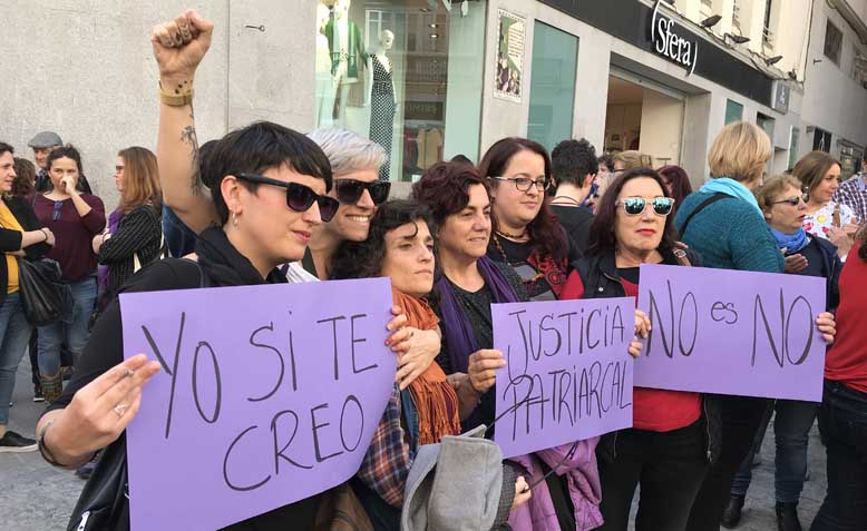 Women on the March in Cadiz, Spain, April 2018. Photo: Steph Pike