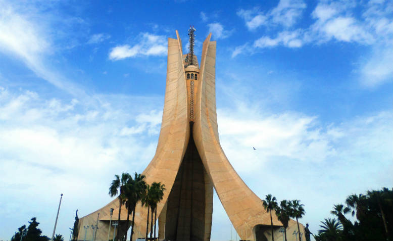Martyr's Memorial commemorating the independence struggle in Algiers, Algeria. Photo: Wikimedia Commons