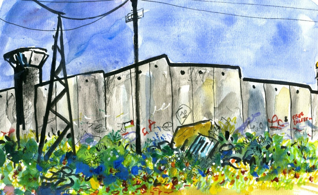 painting of apartheid wall