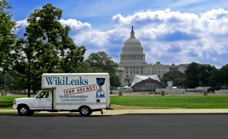 Wikileaks truck on Capitol Hill. Photo: wikimedia commons