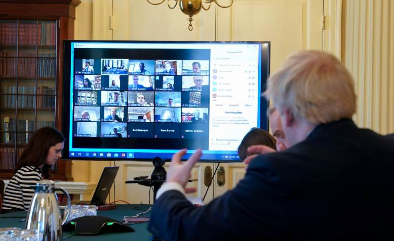 Boris Johnson chairs remote cabinet meeting. Photo: Flickr/Number10