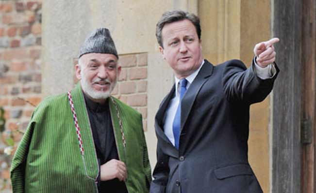 Cameron and Karzai