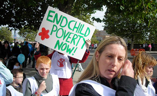 End Child Poverty protest