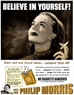 Philip Morris advert 1951
