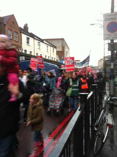 Lewisham march