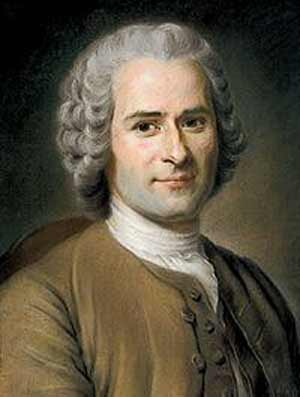 Rousseau - who wondered whether private property was rational