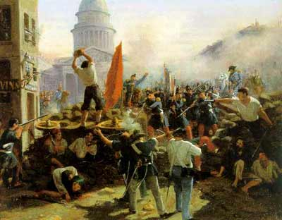 Cavaignac's soldiers fight their way into eastern Paris in the June Days counter-revolution