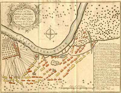map of battle of Plassey