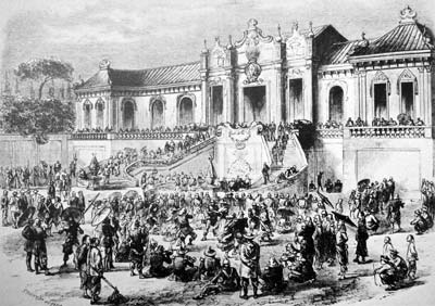 Looting of palace