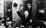 Lenin arrives