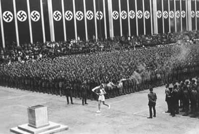 The Olympic torch - a 'tradition' invented by the Nazis for the 1936 Berlin Games