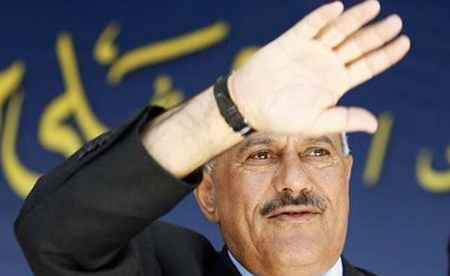 Saleh waves goodbye
