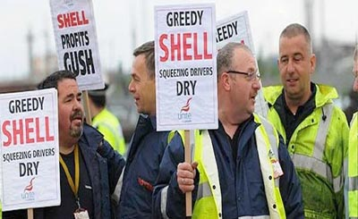 Tanker drivers picket