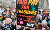 Teachers protest