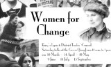 Poster advertising Women for Change series hosted by King's Lynn and District Trade Council