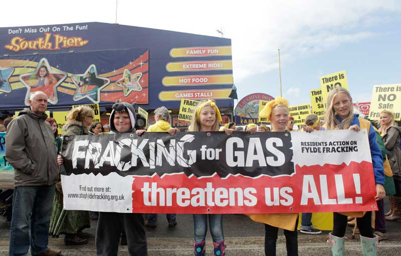 March for a frack free future - Blackpool.