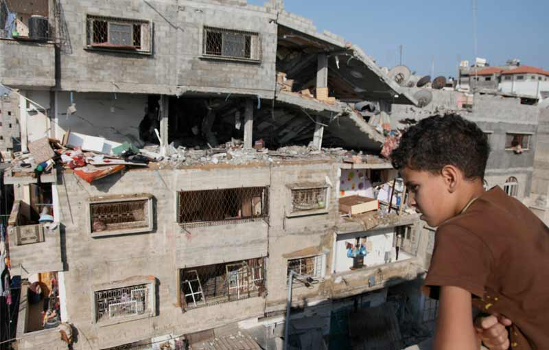 Gaza strip demolished building