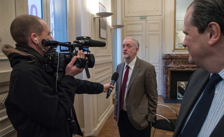 corbyn french media