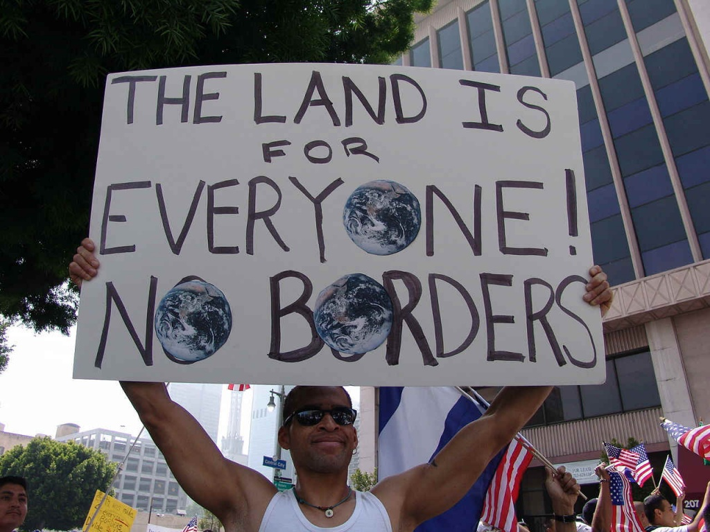 Global free movement. Photo: Jonathan Mcintosh