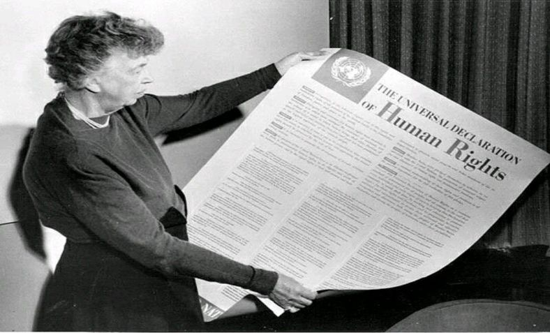 Eleanor Roosevelt with the Universal Declaration of Human Rights
