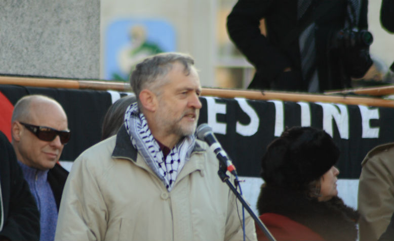 Jeremy Corbyn speaking at a demonstration against the bombing of Gaza, January 2009. Photo: Flickr/Davide Simonetti