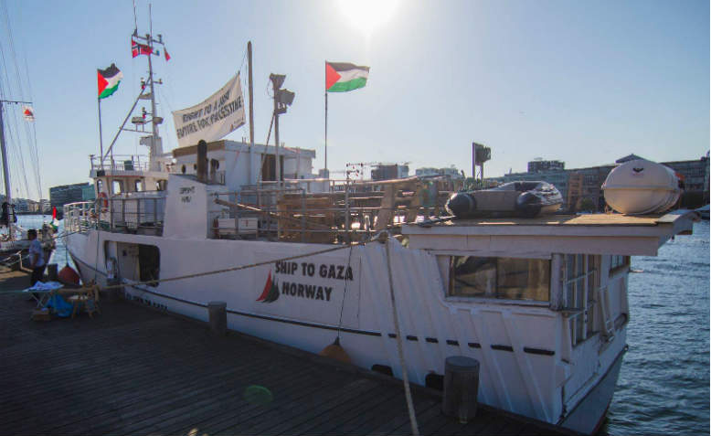Al-Awda boat in Copenhagen. Photo: Freedom Flotilla Coalition