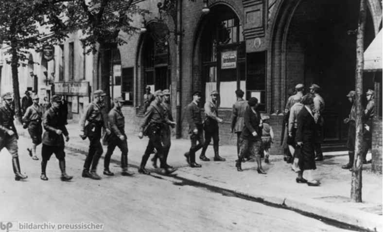 SA close down ADGB union office, Germany, May 2nd, 1933. Photo: GHDI