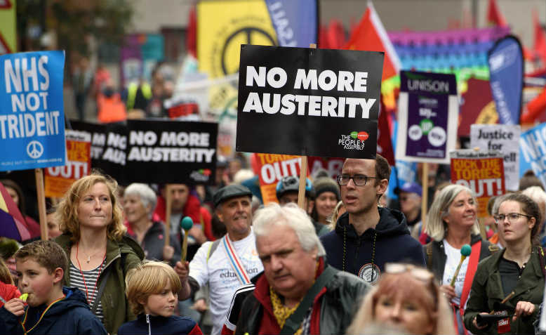 Tories Out demonstration, Manchester, October 2017. Photo: Jim Aindow